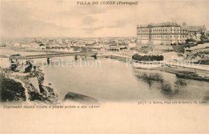 AK / Ansichtskarte Vila_do_Conde Convento Santa Clara ponte sobre rio Ave Vila_do_Conde