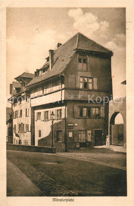 AK / Ansichtskarte Alt_Basel_BS Muensterplatz Sigristhaus Alt_Basel_BS