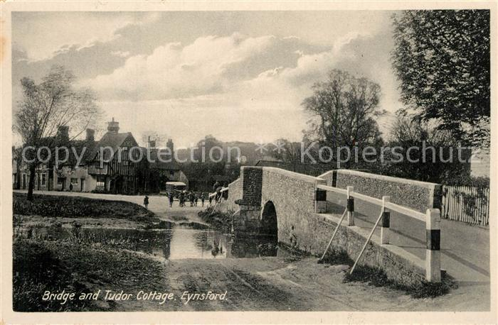 AK / Ansichtskarte Eynsford_Breckland Bridge and Tudor Cottage Eynsford_Breckland