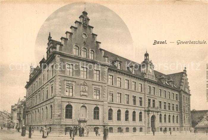 AK / Ansichtskarte Basel_BS Gewerbeschule Basel_BS
