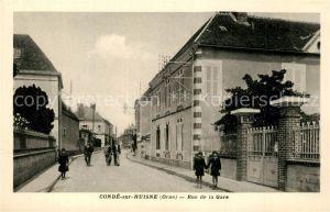 AK / Ansichtskarte Conde sur Huisne Rue de la Gare Conde sur Huisne