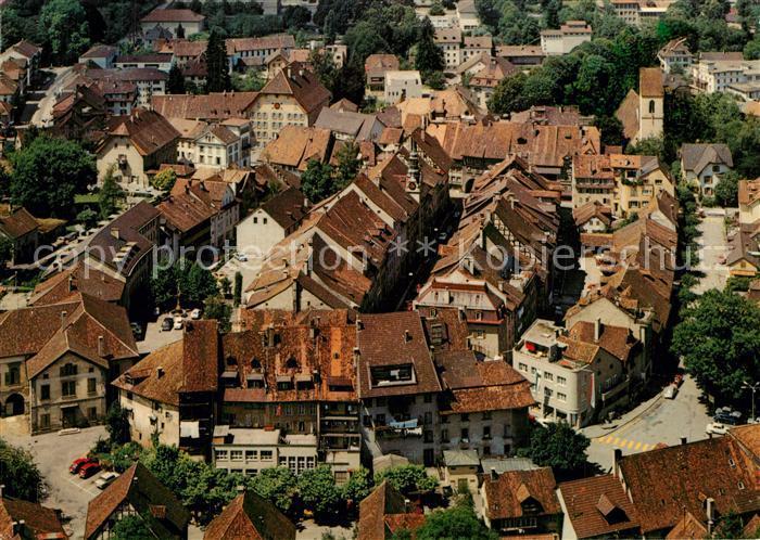 AK / Ansichtskarte Lenzburg_AG Altstadt Fliegeraufnahme Lenzburg AG