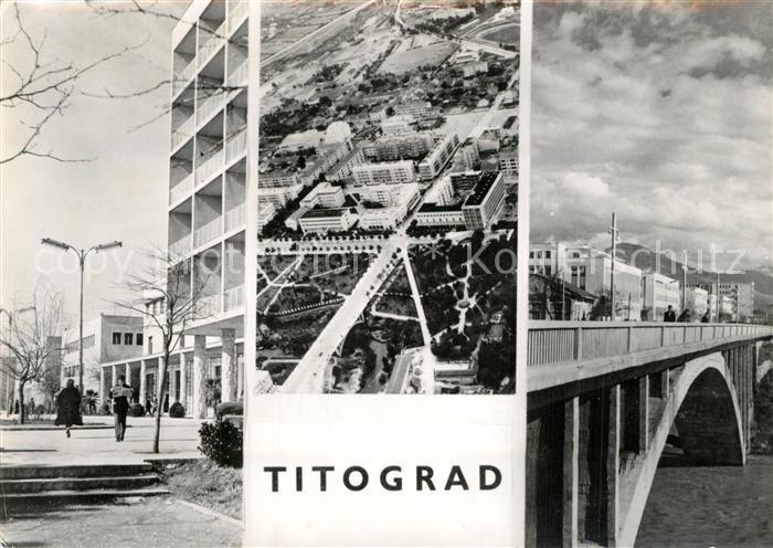 AK / Ansichtskarte Titograd Fliegeraufnahme Titograd