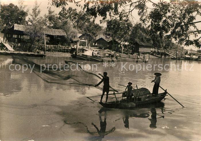 AK / Ansichtskarte Phnom_Penh Peche aux Filets  Chrni Changwer Phnom_Penh