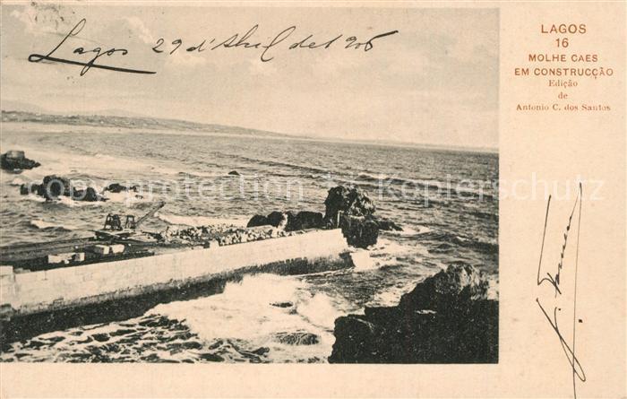 AK / Ansichtskarte Lagos_Algarve_Portugal Molhe Caes em Construccao