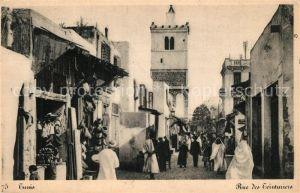 AK / Ansichtskarte Tunis Rue des Ceinturiers Tunis