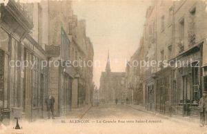 AK / Ansichtskarte Alencon La Grande Rue vers Saint Leonard Alencon