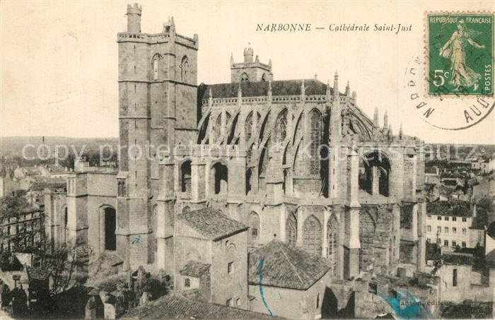 AK / Ansichtskarte Narbonne_Aude Cathedrale Saint Just Narbonne Aude