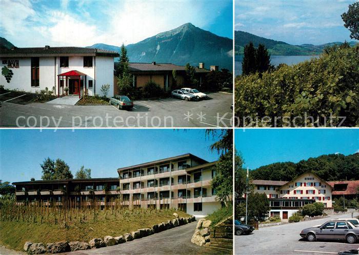 AK / Ansichtskarte Walchwil Hotel Aesch Zugersee Alpen Walchwil