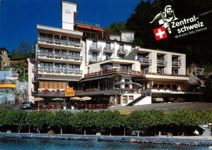 AK / Ansichtskarte Brunnen_SZ Hotel Eden au Lac Hotel Metropol am Vierwaldstaettersee Brunnen_SZ