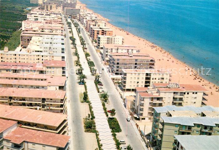 AK / Ansichtskarte Valencia_Valenciana Tabernes de Valldigna Fliegeraufnahme Valencia_Valenciana
