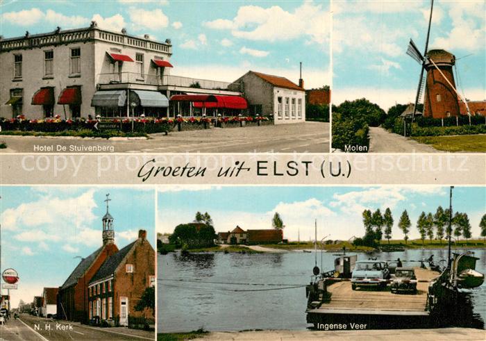 AK / Ansichtskarte Elst_Utrecht Hotel De Stuivenberg Molen NH Kerk Ingense Veer Elst_Utrecht