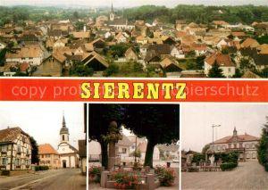 AK / Ansichtskarte Sierentz_Haut Rhin Vue generale Place de la Fontaine Eglise Saint Martin Place de la Mairie Sierentz Haut Rhin