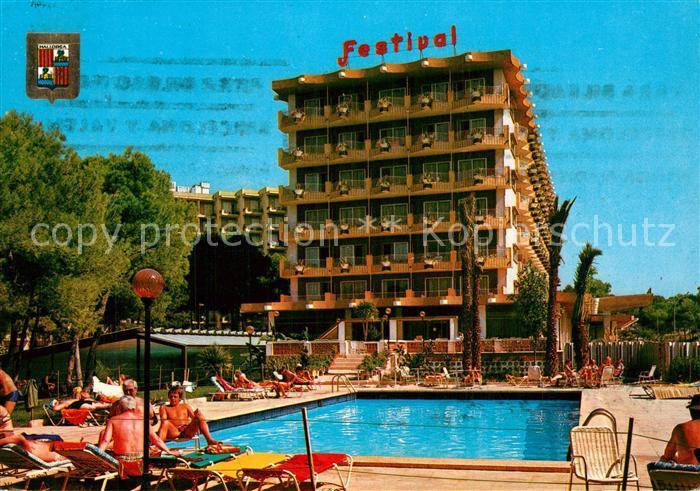 AK / Ansichtskarte Playa_de_Palma Hotel Festival Playa_de_Palma