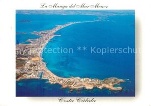 AK / Ansichtskarte Manga_Murcia_La Costa Calida Mar Menor Fliegeraufnahme Manga_Murcia_La