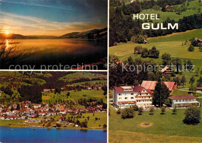 AK / Ansichtskarte Oberaegeri Hotel Gulm Fliegeraufnahme Oberaegeri