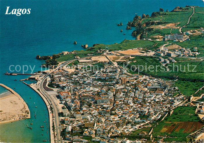 AK / Ansichtskarte Lagos_Algarve_Portugal Fliegeraufnahme
