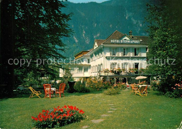 AK / Ansichtskarte Amsteg Hotel Stern und Post Amsteg