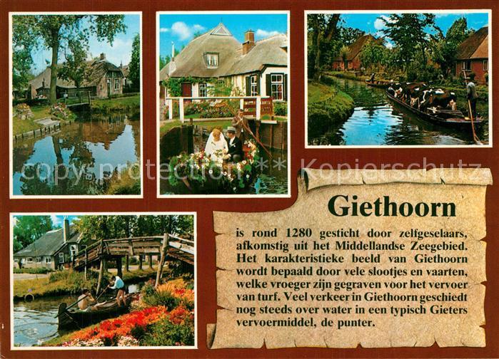 AK / Ansichtskarte Giethoorn Chronik Bootsfahrten Giethoorn