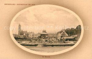 AK / Ansichtskarte Exposition_Universelle_Bruxelles_1910 Le Bassin