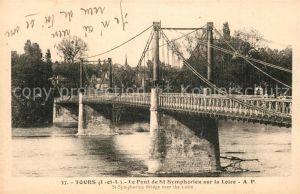 AK / Ansichtskarte Tours_Indre et Loire Pont de St. Symphorien sur la Loire Tours Indre et Loire