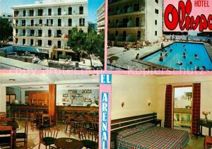 AK / Ansichtskarte El_Arenal_Mallorca Hotel Olimpo Swimming Pool Frendenzimmer Bar Restaurant El_Arenal_Mallorca