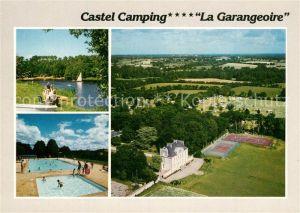 AK / Ansichtskarte Saint Julien des Landes Castel Camping La Garangeoire Piscine Lac Tennis vue aerienne Saint Julien des Landes