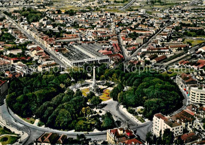 AK / Ansichtskarte Porto_Portugal Praca de Mousinho de Albuquerque vista do ar Porto Portugal