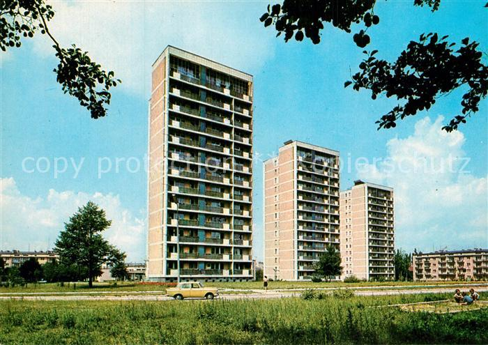 AK / Ansichtskarte Lodz Osiedle mieszkaniowe Nowe Rokicie Hochhaeuser Siedlung Lodz