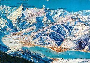 AK / Ansichtskarte Zell_See Panorama Europasportregion Wintersport Alpen aus der Vogelperspektive Zell_See
