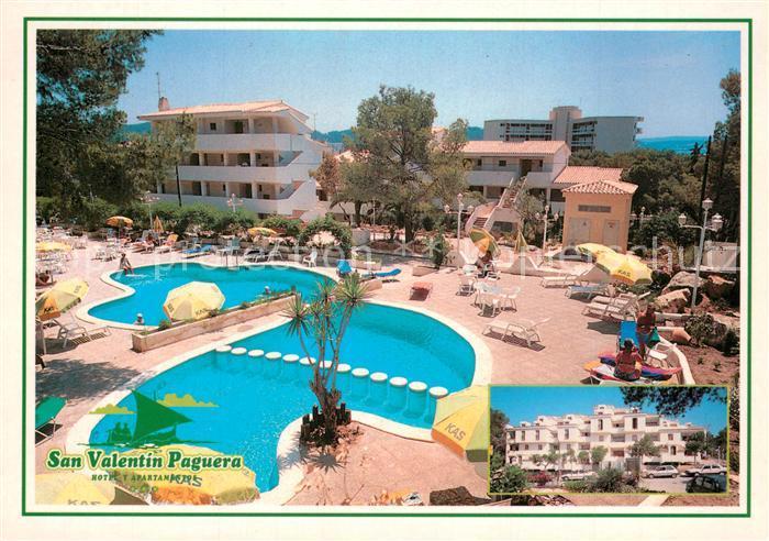 AK / Ansichtskarte Paguera_Mallorca_Islas_Baleares San Valentin Hotel Apartamentos Paguera_Mallorca
