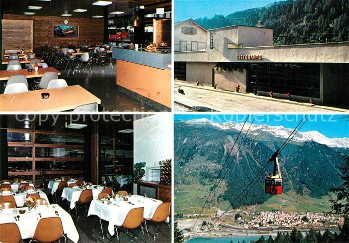 AK / Ansichtskarte Airolo Buffet Ristorante Stazione Seilbahn Airolo