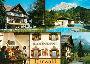 AK / Ansichtskarte Ehrwald_Tirol Hotel Spielmann Ehrwald Tirol