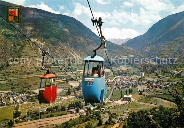 AK / Ansichtskarte Valls_d_Andorra Seilbahn Valls_d_Andorra