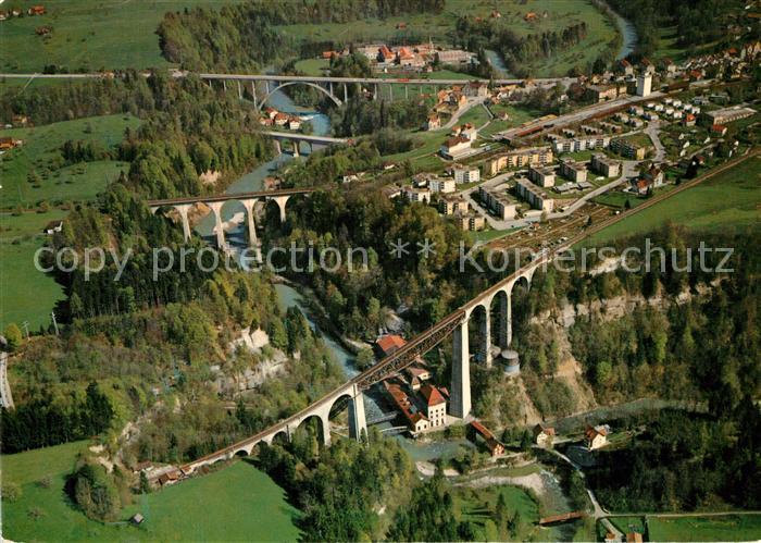 AK / Ansichtskarte St_Gallen_SG Sitterbruecken Fliegeraufnahme St_Gallen_SG