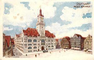 AK / Ansichtskarte Stuttgart Neues Rathaus Stuttgart