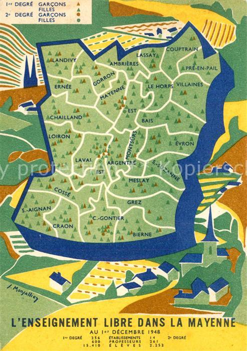 AK / Ansichtskarte Mayenne Enseignement libre dans la Mayenne au 1er Decembre 1948 Mayenne