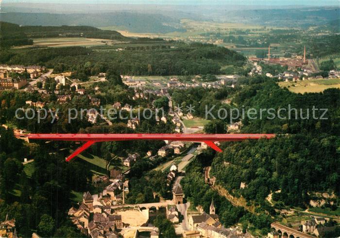AK / Ansichtskarte Luxembourg_Luxemburg Pont Grande Duchesse Charlotte vue aerienne Luxembourg Luxemburg