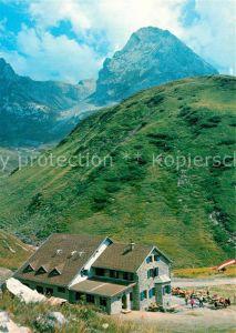 AK / Ansichtskarte Ravensburgerhuette Spullersee Roggalspitze Lechtaler Alpen Ravensburgerhuette