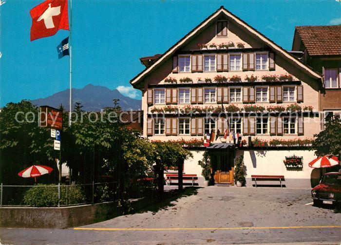 AK / Ansichtskarte Alpnach_Dorf Hotel Landgasthof Schluessel Alpnach Dorf