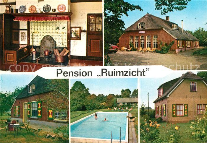 AK / Ansichtskarte Holten_Rijssen Pension Ruimzicht Swimming Pool Holten Rijssen
