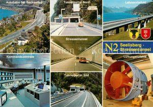 AK / Ansichtskarte Autobahn N 2 Seelisberg Strassentunnel Lehnenviadukt Kommandozentrale