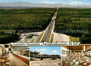 AK / Ansichtskarte Autobahn Rastst?tte Gr?fenhausen West