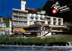 AK / Ansichtskarte Brunnen_Vierwaldstaettersee_SZ Hotel Eden au Lac Hotel Metropol Brunnen_Vierwaldstaettersee