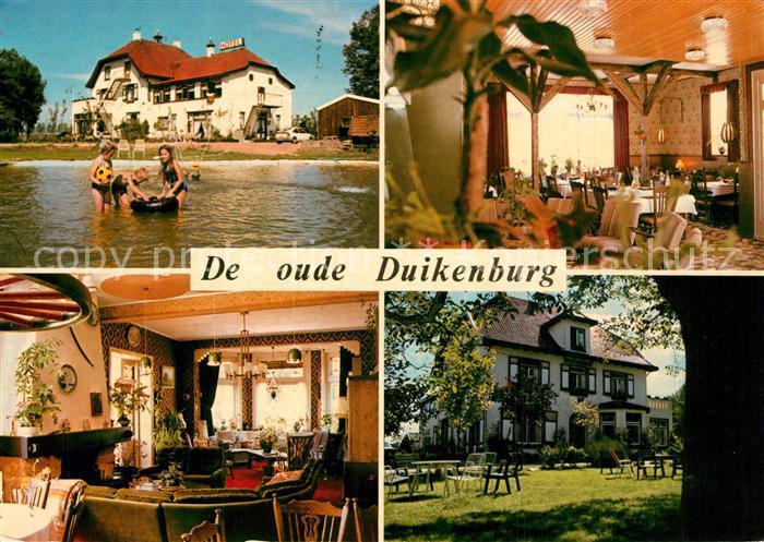 AK / Ansichtskarte Echteld Hotel De Oude Duikenburg Restaurant Garten Echteld