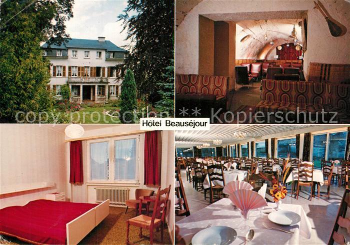 AK / Ansichtskarte Wiltz_Luxembourg Hotel Beausejour Doppelzimmer Restaurant Wiltz Luxembourg