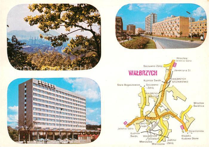 AK / Ansichtskarte Walbrzych_Waldenburg Widok ogolny Hotel Sudety Osiedle mieszkaniowe Piaskowa Gora Walbrzych Waldenburg