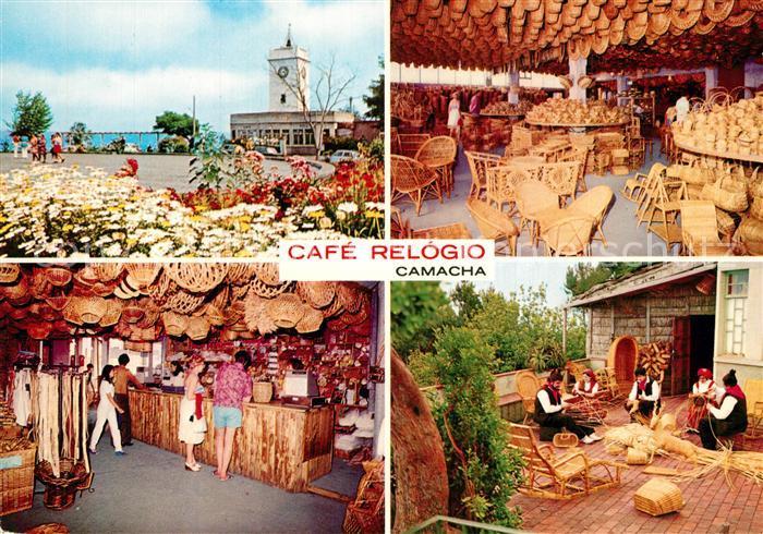 AK / Ansichtskarte Camacha Cafe Relogio Korbflechter Camacha