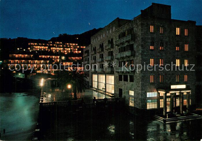 AK / Ansichtskarte Budva Hotel Avala Nachtaufnahme Budva