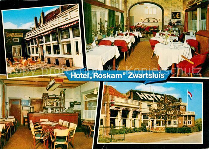 AK / Ansichtskarte Zwartsluis Hotel Cafe Restaurant Roskam Zwartsluis